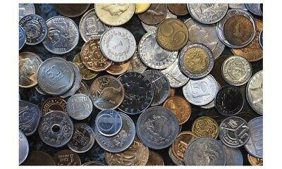 Foreign coins (25) lot Circulated, no duplicates, possible silver or gold