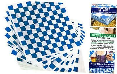Extra Large, Grease Resistant Blue Sandwich Liner 300 Sheet Pack. Microwave Safe