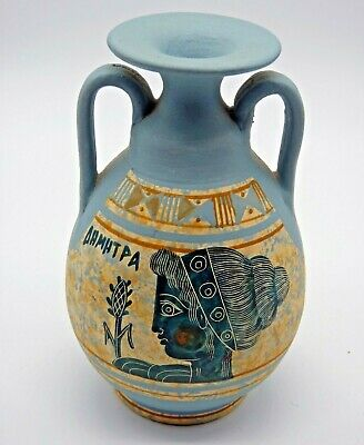 Museum Replica 11.4 cm Ancient Greek Twin Handled Urn/Vase 450 BC,Classic Period
