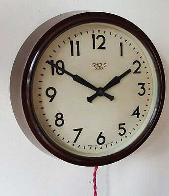 Beautiful Smiths Bakelite Electric Wall Clock Working Perfectly