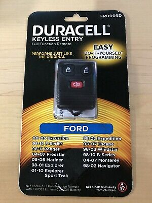 Duracell Brand 3 Button Ford Keyless Remote