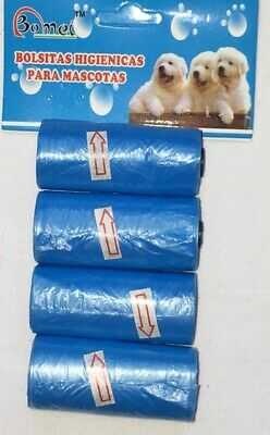 4 Roll Biodegradable Garbage Dog Poo Bag Pet Cat Waste Poop Clean Pick Up Bags