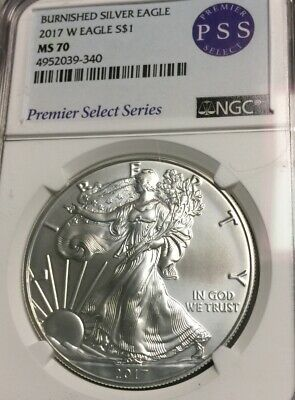 2017 NGC MS70 American Silver Eagle One Dollar  1 Oz Silver Round