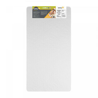 """5"""" Firm Baby Crib Mattress Fits Standard Cribs Water Resistant White Toddler Bed"""