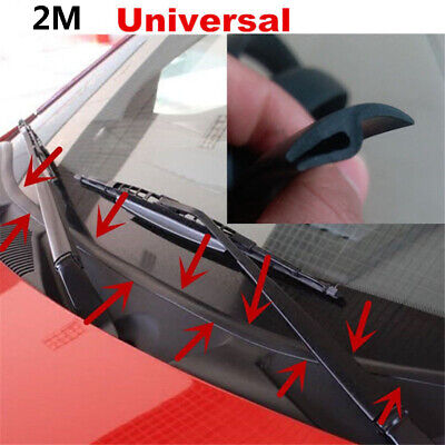 Car Front Windshield Window Seal Strirp Moulding Trim Rubber Strip Black