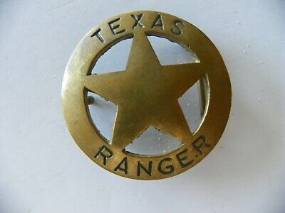 Texas Ranger Solid Brass Belt Buckle