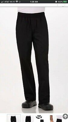 Chef Works Men's Lightweight Baggy Chef Pants, Black, Large