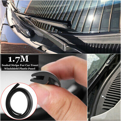 Car Rubber Seal Front Windshield Sealed Trims Moulding Strips 1.7Meters Black