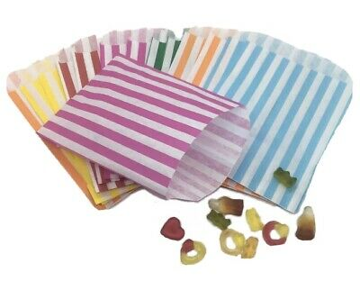 Candy Stripe Paper Sweet Bags 5x7 Pick n Mix Party Sweetie Bags SMALL