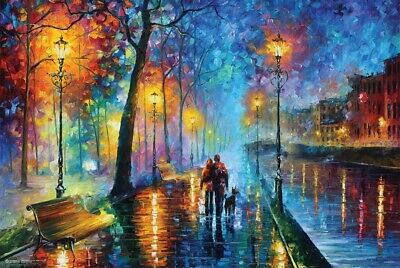MELODY OF THE NIGHT BY LEONID AFREMOV  - ART POSTER 24x36