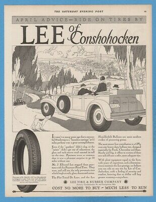 Vintage Print Ad 1928 Lee Tires /& Rubber Company Cost No More To Buy~Much Less To Run