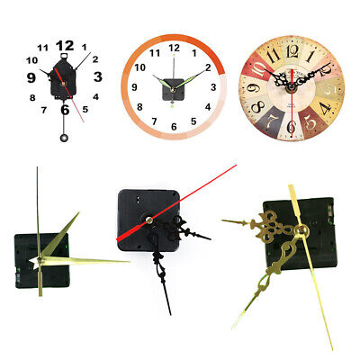 DIY Black Quartz Wall Clock Parts Movement Mechanism Replacement Repair Tool UK
