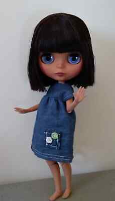 12 inch Nude Blythe Doll Jointed Body Matte Face Oily Straight Salad Green Hair