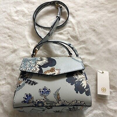 Tory Burch Robinson floral small top handle satchel