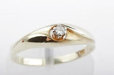 RING IN AUS 14kt 585er Gelb Gold mit Brilliant Brillant