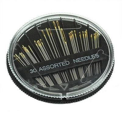 30x  Assorted Hand Sewing Needles Embroidery Mending Craft Quilt Case