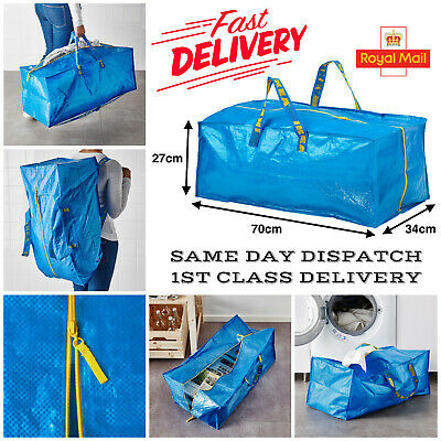 Ikea Large Carry Bags Laundry House Move Storage Garden Planter Recycle 25Kg 71L