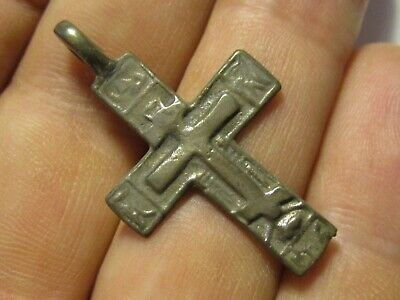 Beautiful, Rare, Ancient Bronze Cross.  Religious Art 17 Century. K153