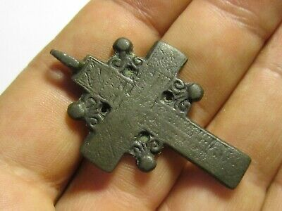 Ancient Bronze Cross Rare. Religious Artifact 17-18 Century. К159