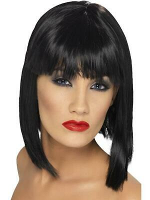 Ladies Halloween Fancy Dress Black Blunt Bob Jessie J Style Wig