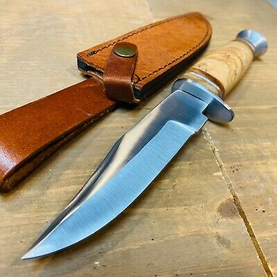 "10.25"" Hunting Survival Skinning Fixed Blade Knife Full Tang Army Bowie WOOD NEW"