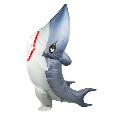 Shark with Legs Adult Costume Inflatable  Funny Fish Gemmy Animal Halloween