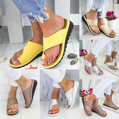 Womens Ladies Orthopedic Sandals Comfy Platform Beach Shoes For Bunion Corrector