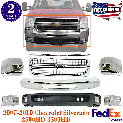Front Grille w// Chrome Center Bar Lower Valance For 04-2012 Chevrolet Colorado