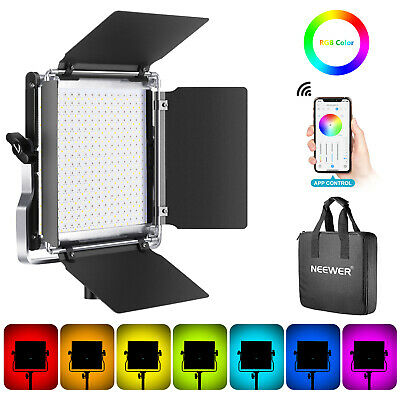Dimmable Bi-Color 2800-7400K Metal Shell with Charging Cable//Filter//Diffuser//Adhesive Tape CRI95+ with Booster Mode and Built-in Battery Neewer SL128-A Pocket-Size LED Video Light 128 SMD LEDs