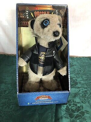 Brand New In Box Collector Compare The Meerkat Toy Vassily with Leather Jacket