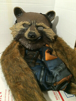 Brown HMS Unisex-Adults Supersoft Raccoon MASK One Size