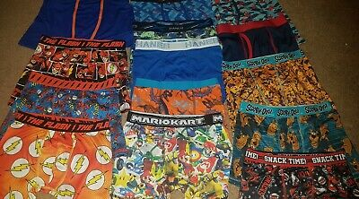 Brand New Boys boxer briefs Size large (10) Lot of 14 Various Brands