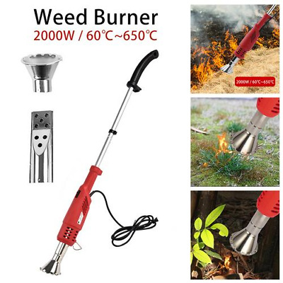2000W Electric Garden Weed Burner Killer Torch Patio Hot Air Blaster No Gas..