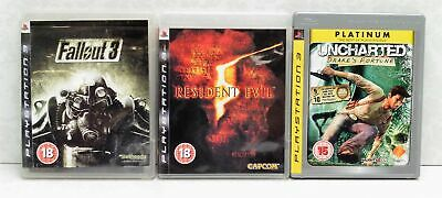 Lot Of Sony PlayStation PS3 Games Fallout3/ Resident Evil/ Uncharted