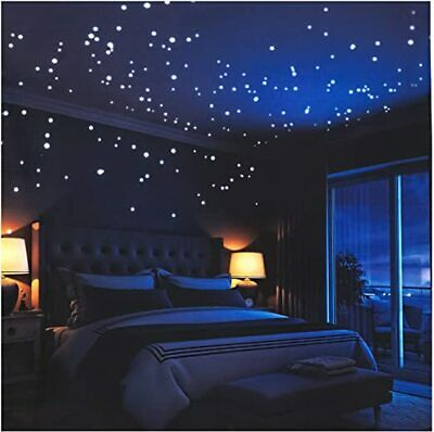 Self-Adhesive Starry Sky Paraboo Luminous Dots and Moon Fluorescent Stars,