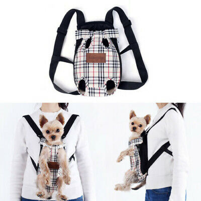 Backpack and changeable shoulder band 12x12 in cat pattern with double front pouch