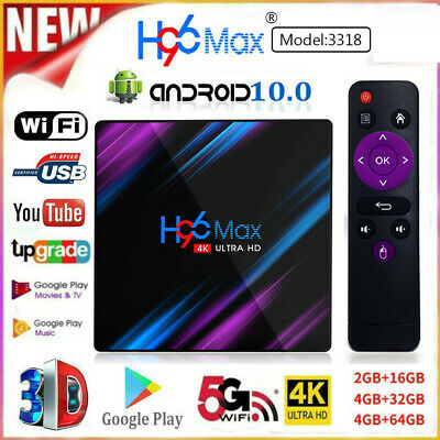 4+64G H96MAX 10.0 4K Smart Android TV BOX Tastatur TV BOX RK3318 Media Streamer