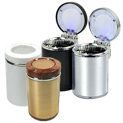 Portable Auto Car LED Cigarette Ashtray Smokeless Cylinder Holder Cigarette Cup
