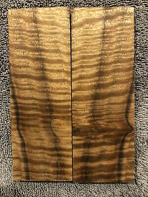 1 Pair Knife Scales~ Curly Walnut