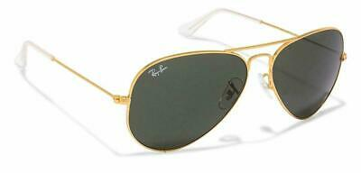 RAY-BAN Immaculate Mens Sunglasses Gold Green Pilot Aviator RB 3025 181 24067
