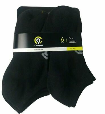 Champion Performance Duo Youth Low Cut Socks 6 pairs