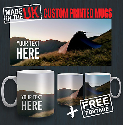 Personalised Mug Photo Cup Custom Picture Text Wraparound Fullcolour Giift Gloss
