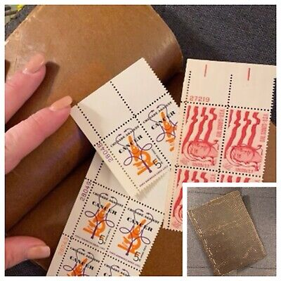 Old Book Of Postage Stamps Antique 60's Many Block Unhinged Lot Vintage Stamp