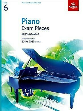 Piano Exam Pieces 2019& 2020 Grade 6, Acceptable Condition, Free P&P in the UK