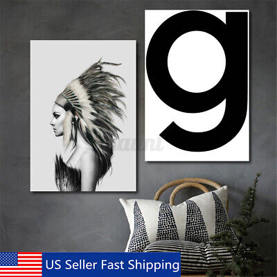 70x50cm Modern Indian Girl Canvas Art Print Painting Home Wall Decor Unframed S