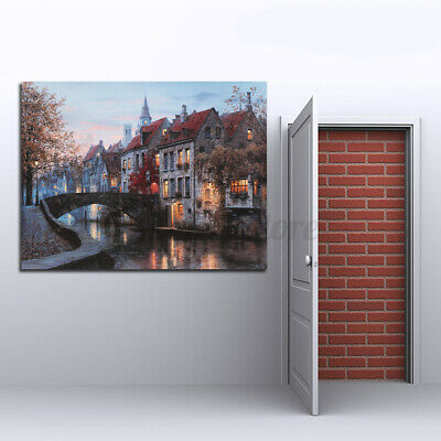 Modern Oil Canvas Painting House Print Picture Home Wall Art Decor Unframed S