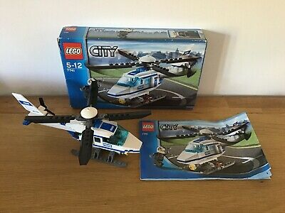 Lego City Police Helicopter 7741 100% Complete With Manual & Box
