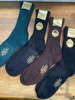 Vintage Spiegel Men's Socks Size 9-11 Lot Of 4 New Old Stock Nice