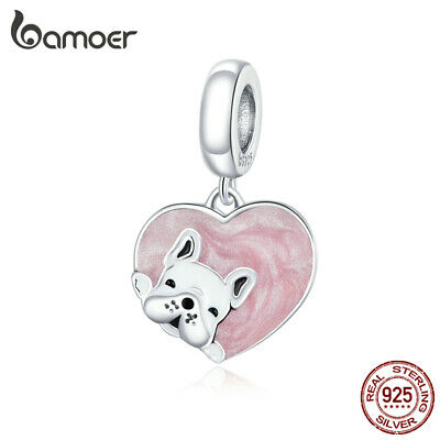 S925 Sterling Silber DIY Charms Emaille Blue Planet f¨¹r europ?ische Armb?nder