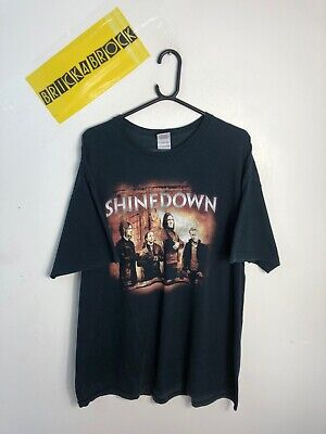 MENS VINTAGE SHINEDOWN 2012 BAND T SHIRT TOP SIZE XL RETRO 99p Start GOOD CON